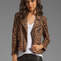 Capulet Moto Jacket in Tan Leopard from REVOLVEclothing.com