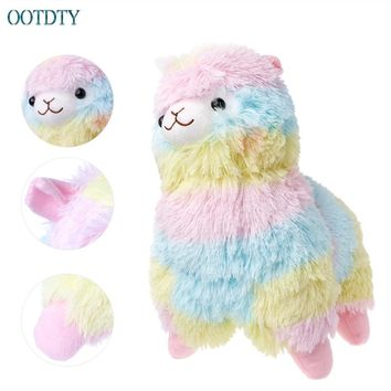 Lama Alpacasso Doll Cotton Stuffed Animal Toys Rainbow Amuse Alpaca Plush Toy S Size #330