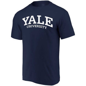 Yale Bulldogs Fanatics Branded Basic Arch Expansion T-Shirt - Navy