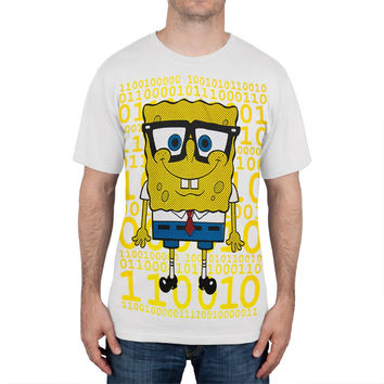 Spongebob Squarepants - Digital Nerdy Spongebob T-Shirt