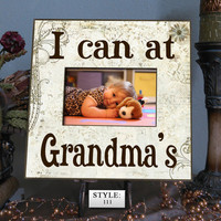 "ICAN: 10x10"" Holds 4x6"" Photo Gift for Grandparents, Grandma gift, Grandpa gift, Grandchildren Photo Frame, Grandchildren Picture Frame"