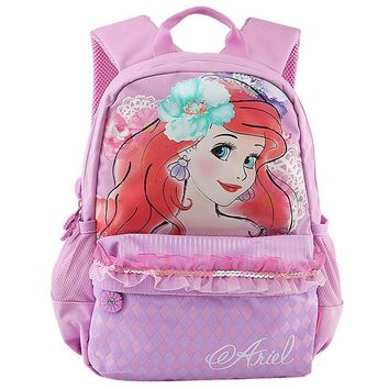 School Backpack Cartoon Little Mermaid Ariel Snow White Princess Backpack Kindergarten Pres Schoolbag School Bags for Girls Kids AT_48_3