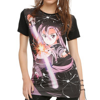 Sword Art Online Kirito Gun Fight Girls T-Shirt