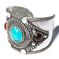 Western Fashion The Spellcaster Cuff Antique Silver One