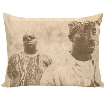 Vintage Tupac & Biggie Pillowcase
