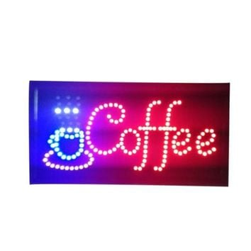 Neon Lights LED Animated Coffee Customers Attractive Sign Store Shop Sign 110V