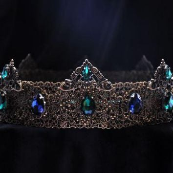 JOSEPE - BLUE AND GREEN MEDIEVAL CROWN