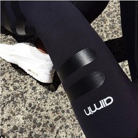 Fashion Print Tight Sport Gym Yoga Pants Trousers Sweatpants