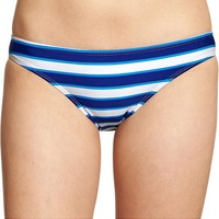 Women's Nautical-Stripe Bikini Bottoms