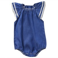Denim Princess Summer Sunsuit