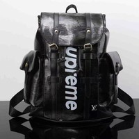 PEAPON Louis Vuitton x Supreme Fashion Backpack Tote Travel Bag Shoulder Bag