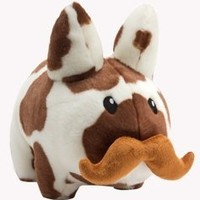 Kidrobot Cow Stache Labbit Plush (Small)