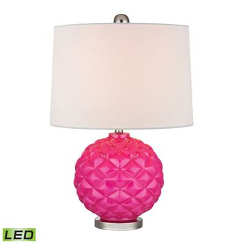 D353-LED Pink Pop Glass LED Accent Lamp in Hot Pink - Free Shipping!