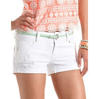 Refuge Mid-Rise Cuffed Short: Charlotte Russe
