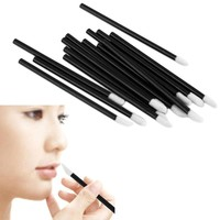 100pc disposable makeup lip brush lipstick gloss wands applicator make up tool black women portable cosmetic lip brush beauty