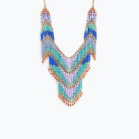 Necklace with colourful crystals