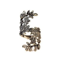 World Pride Vintage Bronze Unique Carving Hollow Beauty Leaf Leaves Ring