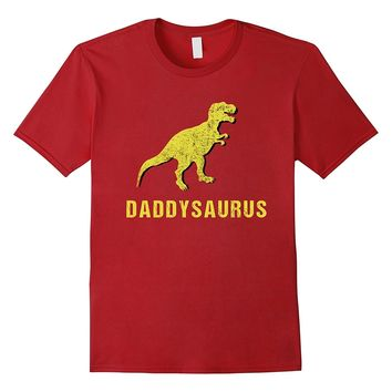 Daddysaurus Shirt Cool Dinosaur Fathers Day Gift Kid Dad Son