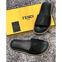 Fendi male Slipper Flats Shoes