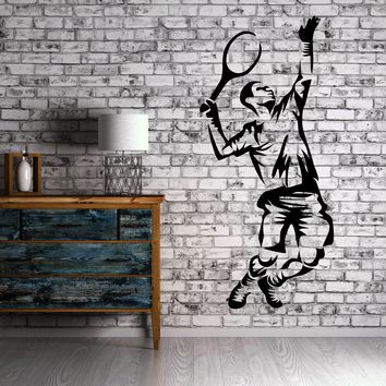 Tennis Sport Serve Cool Decor For Living Room Wall Sticker Vinyl Decal Unique Gift (z1126)