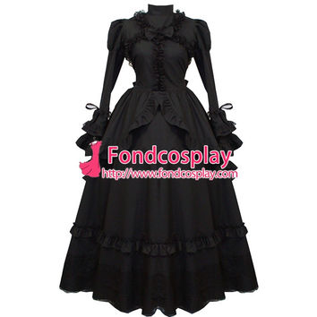 Gothic Lolita Punk Ball Medieval Gown Victoria Dress Cosplay Costume Tailor-made Alternative Measures - Brides & Bridesmaids - Wedding, Bridal, Prom, Formal Gown