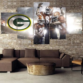 Rugby ball Logo Paintings Green Bay Packers Modern Home Decor Living Room Bedroom Wall Art Canvas Print Painting Calligraphy
