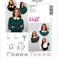 BURDA STYLE 7021 Collar, Bib and Dickie Pattern Super Easy Accessories Pattern Preppy Peter Pan Collar Pattern UNCuT Womens Sewing Patterns