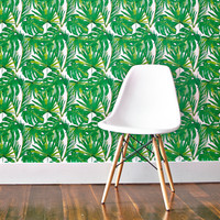 So into this design on Fab! Green Leaf Removable Wallpaper #FabForAll