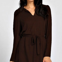 Cocktail Hour Dress - Brown