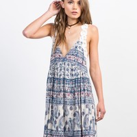 Printed Criss Cross Dress