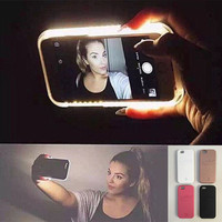 Hot LED Light selfie Phone Case for iPhone 7 7 Plus 5 5S SE 6 6s 6 Plus 6s Plus Case Light Selfie Led Cover 5 colors-0320