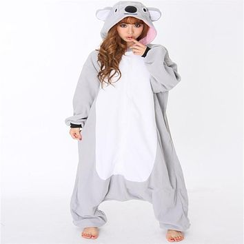 D44 Unisex Adult Fleece Animal Costumes Winter Cartoon Pegasus Unicorn Onesuits Christmas Halloween Fancy Costume