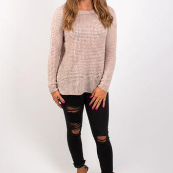 BB Dakota Tierny Marled Yarn Sweater - Parchment