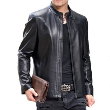 Men Jackets Coats Giacca Pelle Uomo Jaqueta De Couro Masculina Men's Casual Slim Fit Motorcycle Leather Jackets Men BL