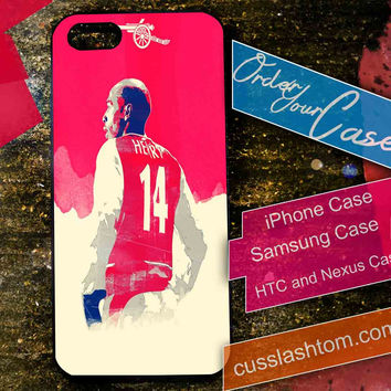 Exclusive Thiery Henry iPhone for 4 5 5c 6 Plus Case, Samsung Galaxy for S3 S4 S5 Note 3 4 Case, iPod for 4 5 Case, HtC One M7 M8