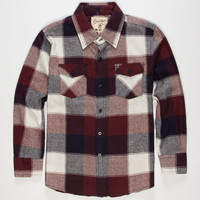 Coastal Hounds Boys Flannel Shirt Burgundy  In Sizes