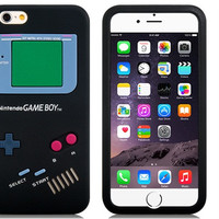 "Game Console Design Silicone Case for 4.7"" iPhone 6(Black)"