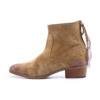 Jackpot Zip Suede Booties