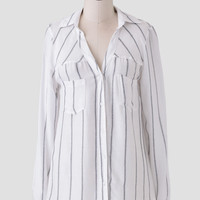 City Classic Striped Button-Up