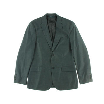 Perry Ellis Mens Wrinkle Recovery Travel Luxe Two-Button Blazer