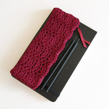Deep Magenta Crochet Pencil Case