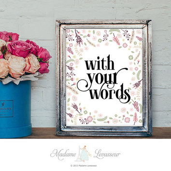 Custom design printable art personalized art print motivational quote positive affirmation art print printable quote customized gift idea
