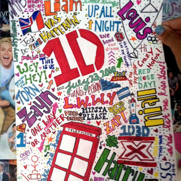 One Direction Drawing: Collage