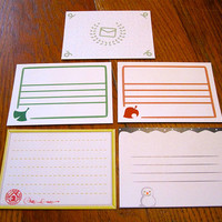Animal Crossing Stationery Notecards - NPC Set, 10 cards per set