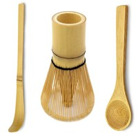 Bamboo Matcha Tea Whisk, Scoop and Small Spoon - Walmart.com