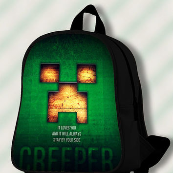 Best Minecraft Creeper - Custom SchoolBags/Backpack for Kids.