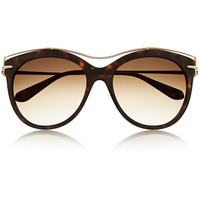 Alexander McQueen - Cat-eye acetate and metal sunglasses