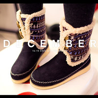 Nordic Knit Calf Boots - I know you wanna kiss me. Thank you for visiting CHUU.