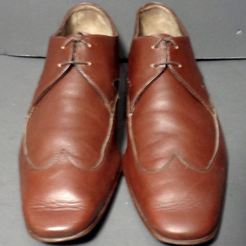 SALVATORE FERRAGAMO Brown Men's Oxford Shoes Size 11.5