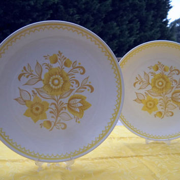 Royal China  Plate - Cavalier Ironstone Jubilee Dinner Plates - Yellow Flowers Plate - Decorative Plate with Yellow Flowers